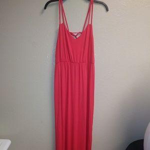 Kenar Maxi Dress Bright Sz L Tied Spaghetti Strap